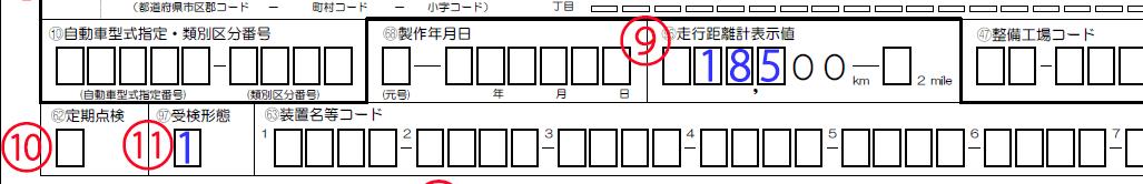 新規検査申請書走行距離計~受験形態解説