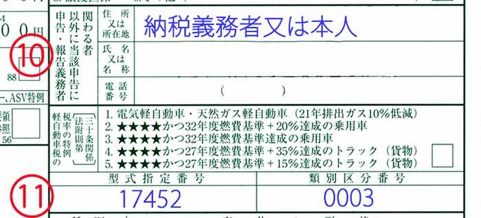 軽自動車税申告書記載例no3-1