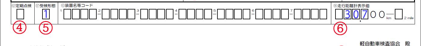 申請書の定期点検、受験形態及び走行距離計表示値解説