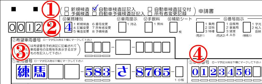 所有権解除申請書記載例①~④